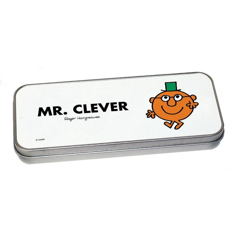 Mr. Clever Pencil Case Tin (Silver)