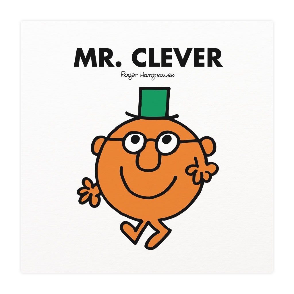 Mr. Clever Mounted Art Print