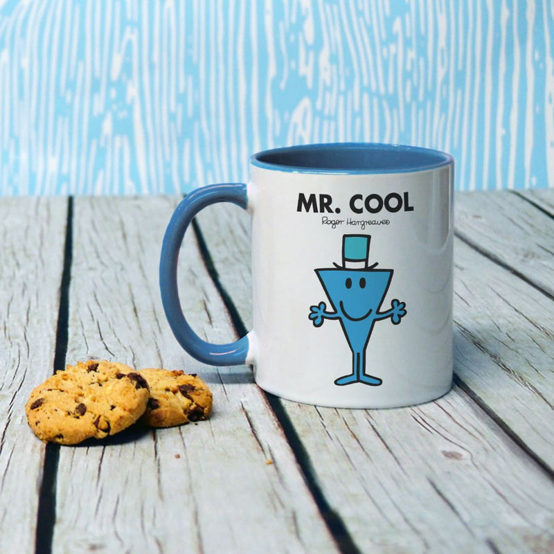 Mr. Cool Large Porcelain Colour Handle Mug (Lifestyle)