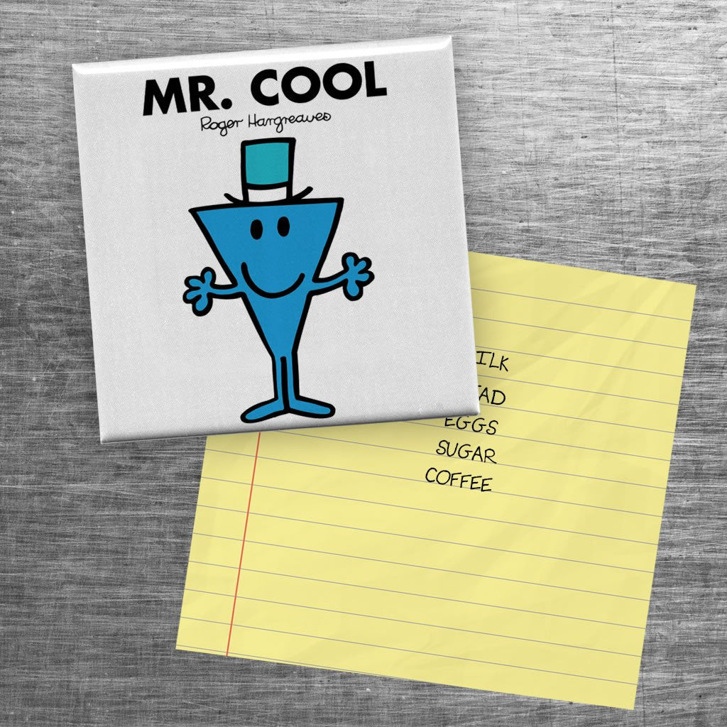 Mr. Cool Square Magnet (Lifestyle)