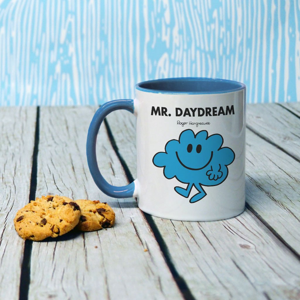 Mr. Daydream Large Porcelain Colour Handle Mug (Lifestyle)