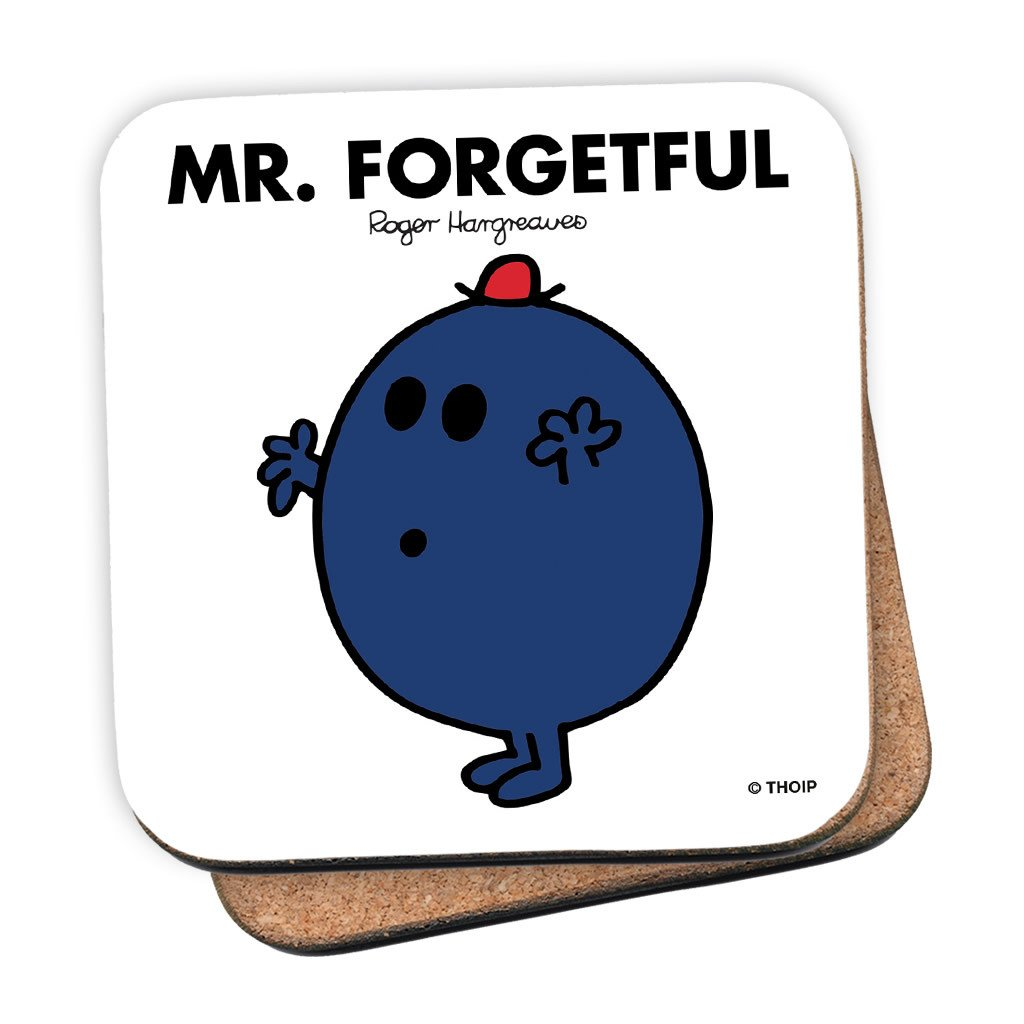 Mr. Forgetful Cork Coaster
