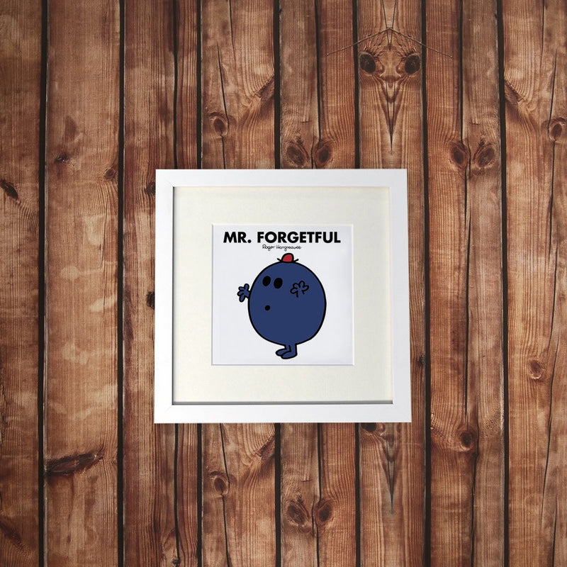 Mr. Forgetful White Framed Print (Lifestyle)