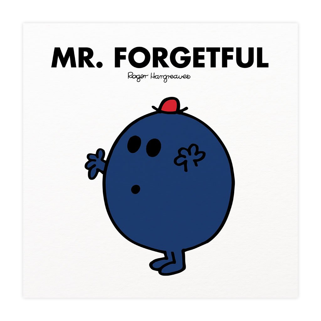 Mr. Forgetful Mounted Art Print