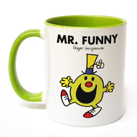 Mr. Funny Large Porcelain Colour Handle Mug