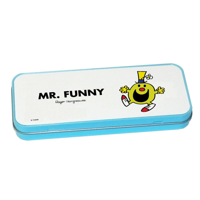 Mr. Funny Pencil Case Tin (Blue)