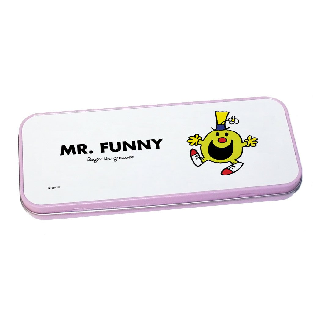 Mr. Funny Pencil Case Tin (Pink)