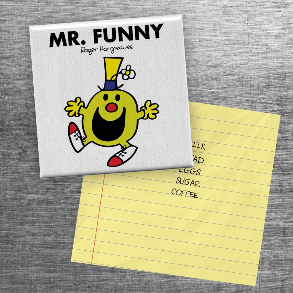 Mr. Funny Square Magnet (Lifestyle)