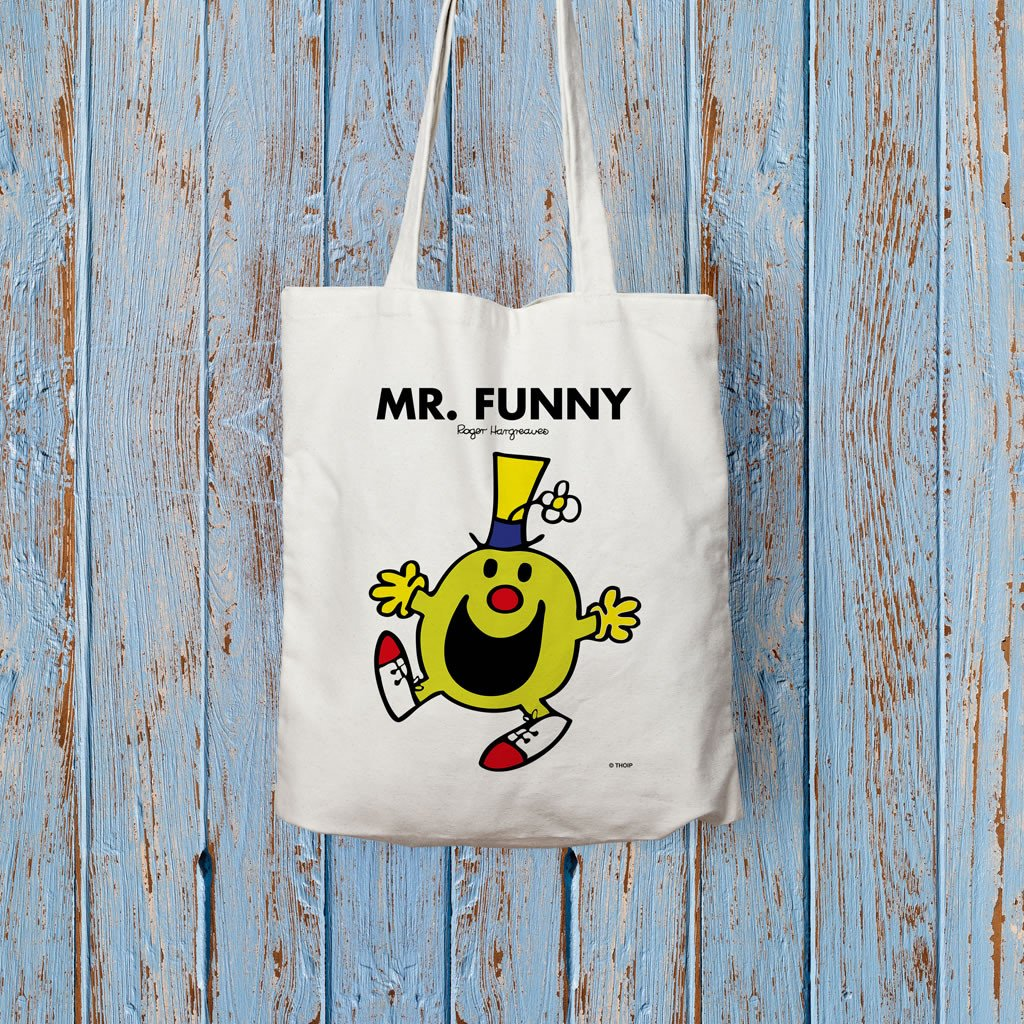 Mr. Funny Long Handled Tote Bag (Lifestyle)