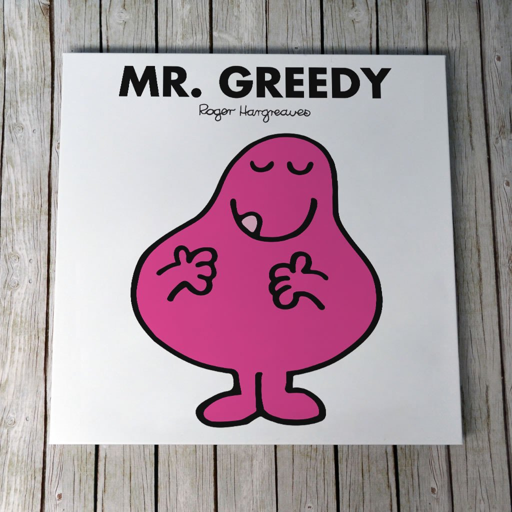 Mr. Greedy Canvas (Lifestyle)