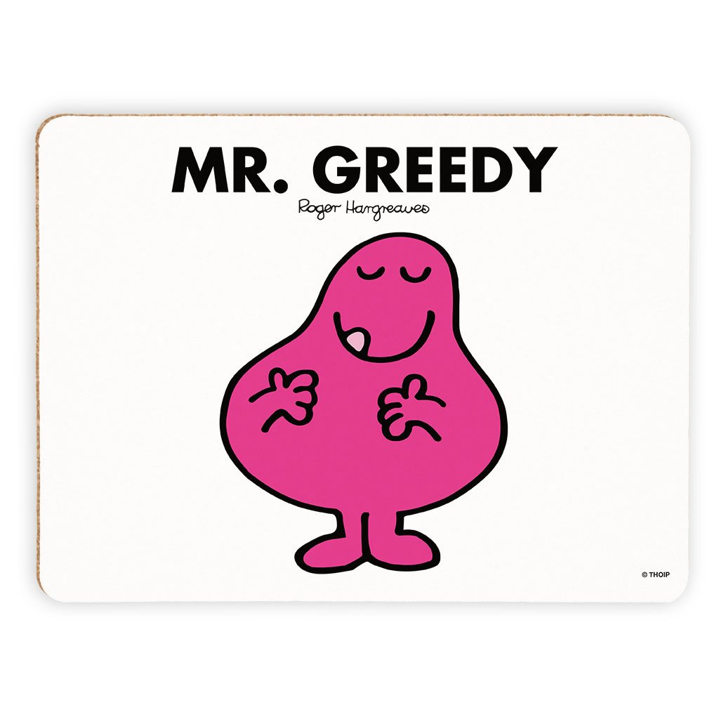 Mr. Greedy Cork Placemat