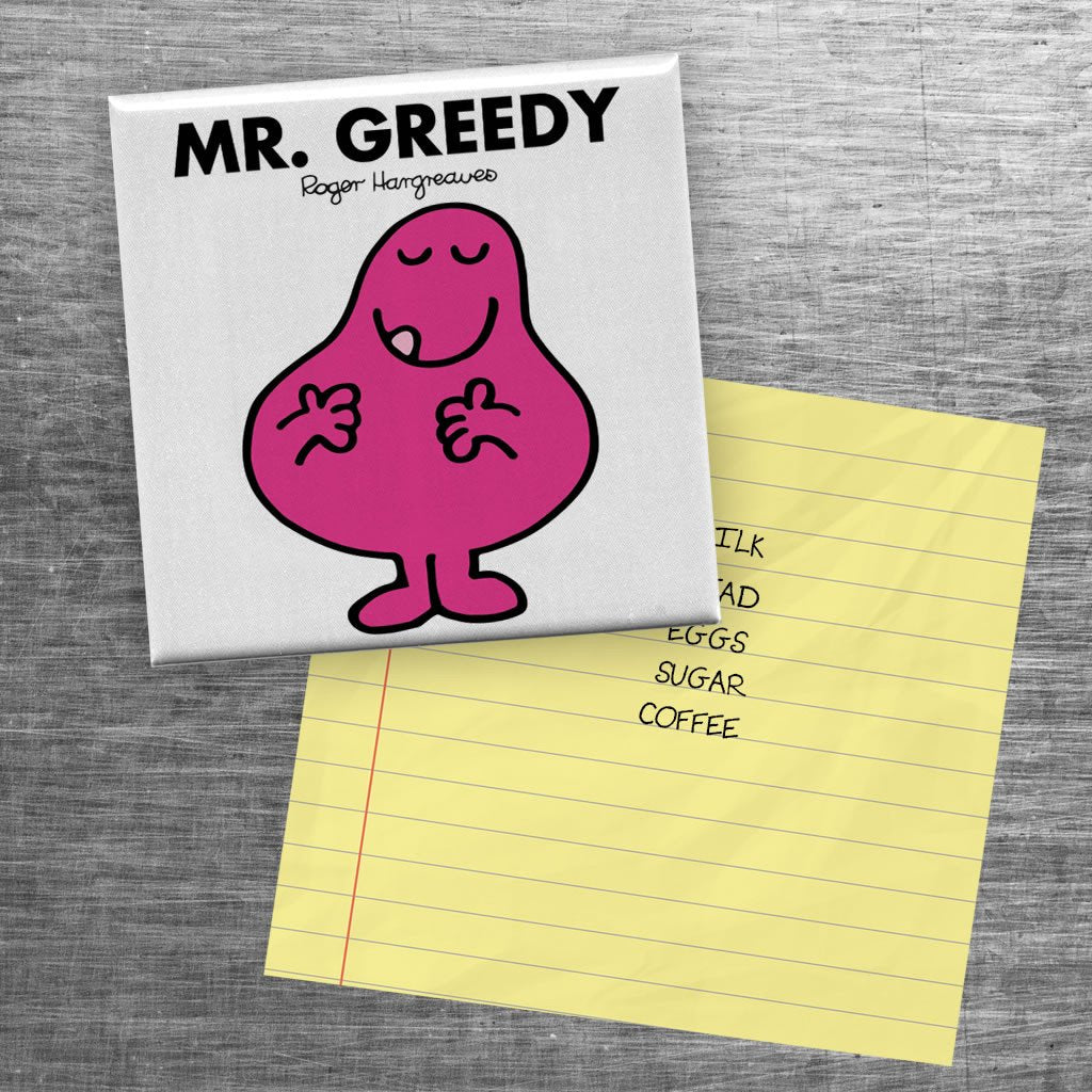 Mr. Greedy Square Magnet (Lifestyle)