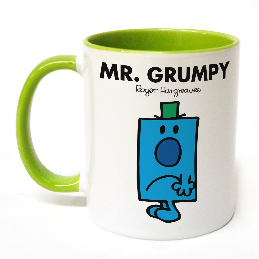 Mr. Grumpy Large Porcelain Colour Handle Mug