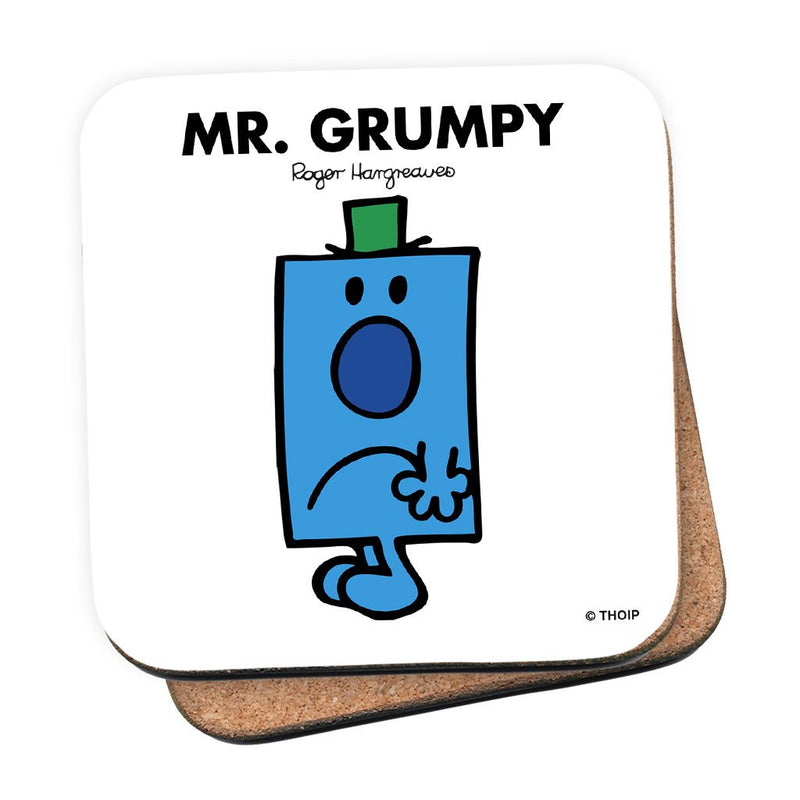 Mr. Grumpy Cork Coaster