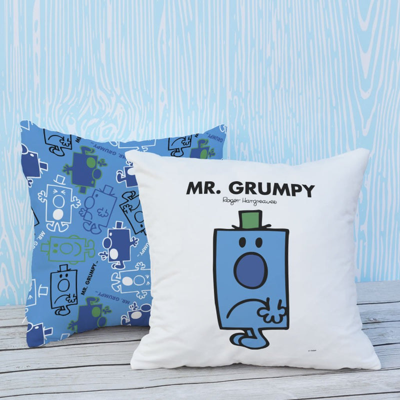 Mr. Grumpy Micro Fibre Cushion (Lifestyle)