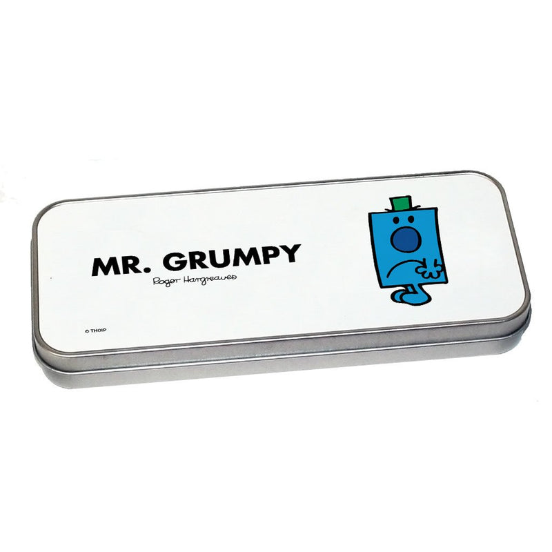 Mr. Grumpy Pencil Case Tin (Silver)