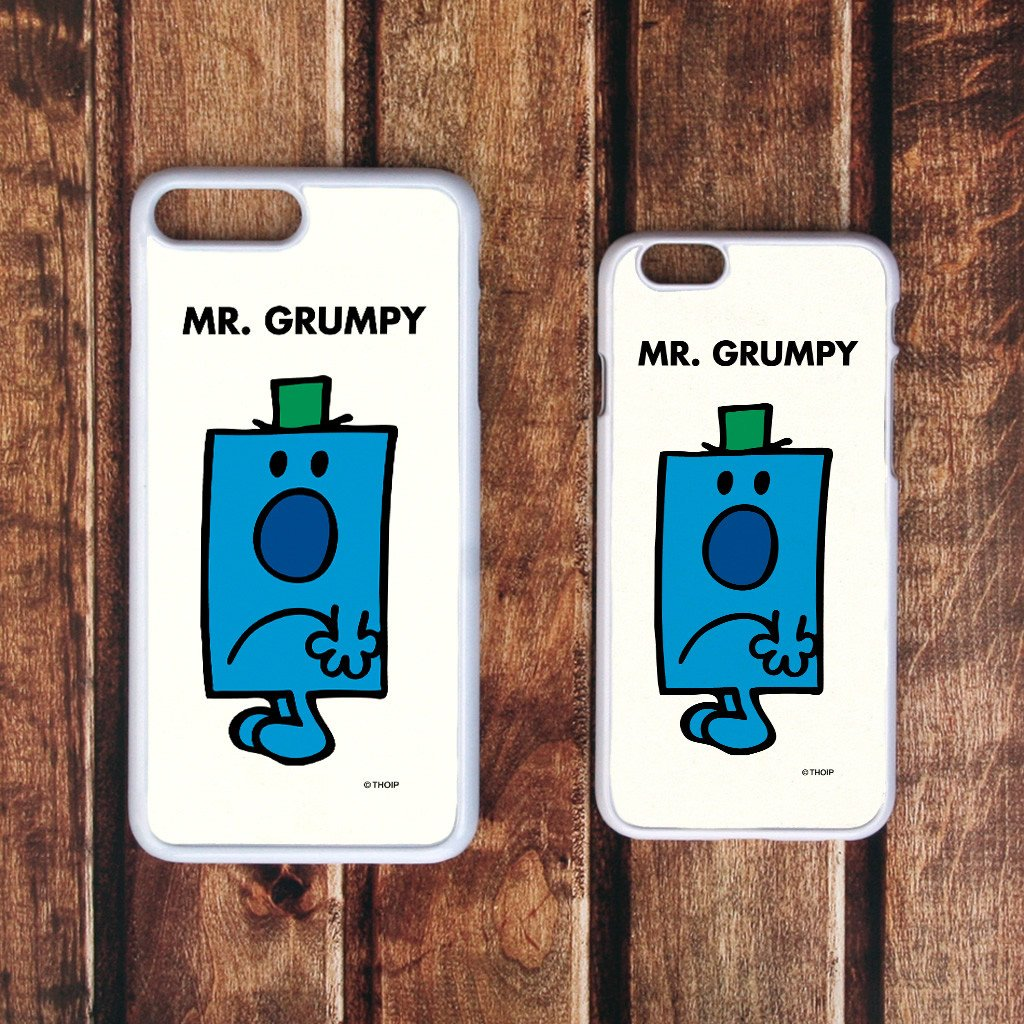 Mr. Grumpy White Phone Case (Lifestyle)