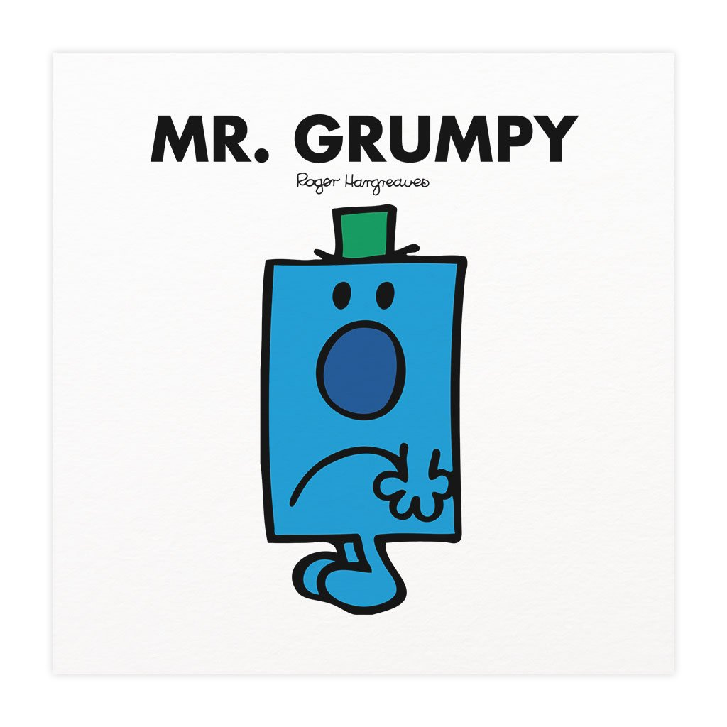 Mr. Grumpy Mounted Art Print