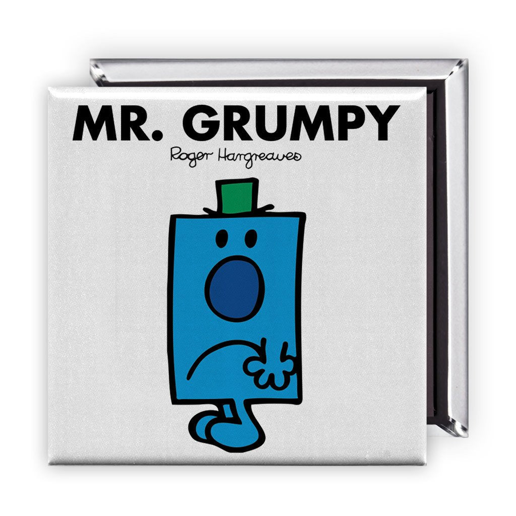 Mr. Grumpy Square Magnet