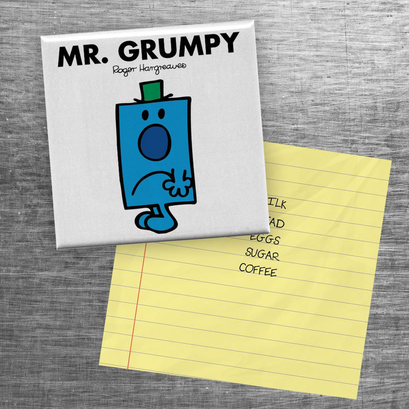 Mr. Grumpy Square Magnet (Lifestyle)