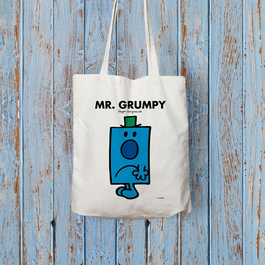 Mr. Grumpy Long Handled Tote Bag (Lifestyle)
