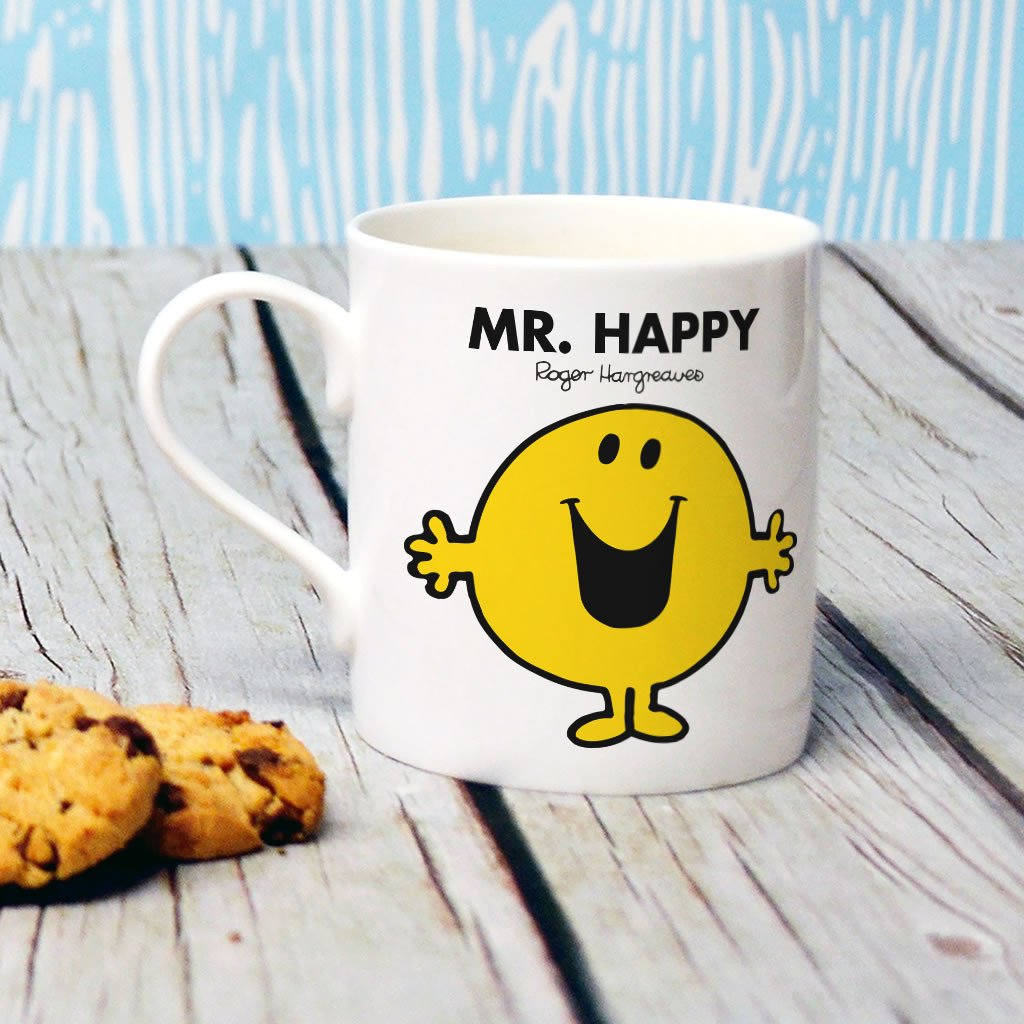 Mr. Happy Bone China Mug (Lifestyle)