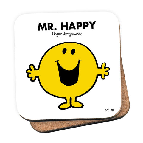 Mr. Happy Cork Coaster