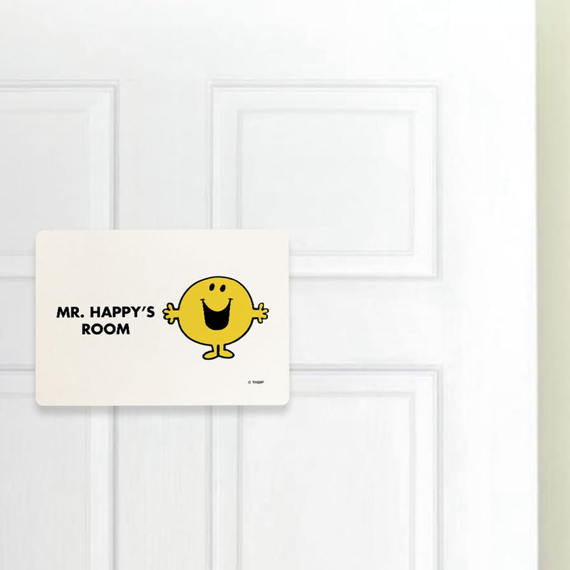 Mr. Happy Door Plaque (Lifestyle)