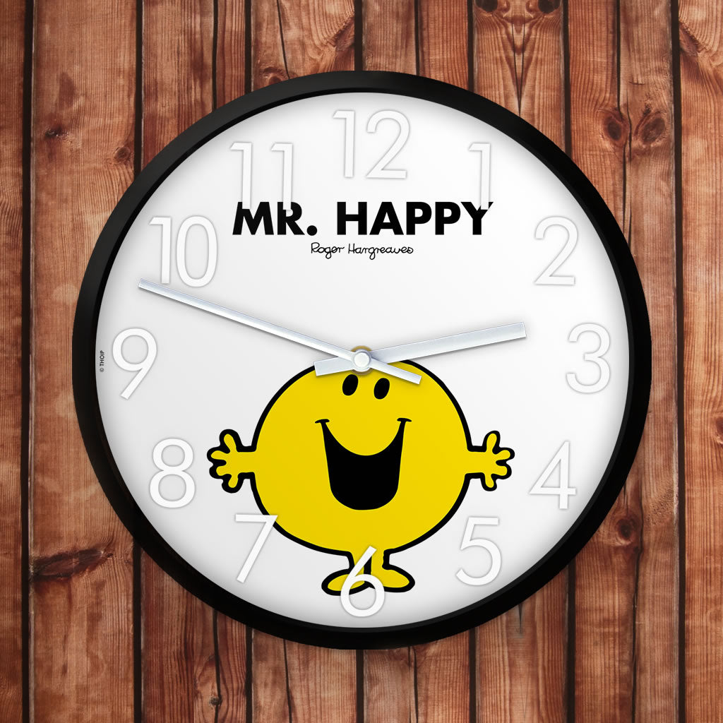 Mr. Happy Personalised Clock (Lifestyle)