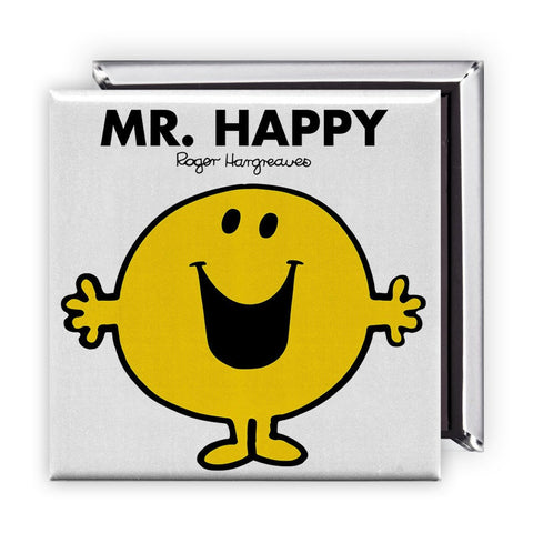 Mr. Happy Square Magnet