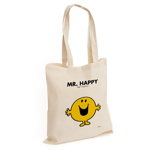 Mr. Happy Long Handled Tote Bag