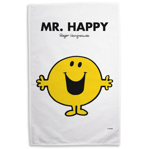 Mr. Happy Tea Towel