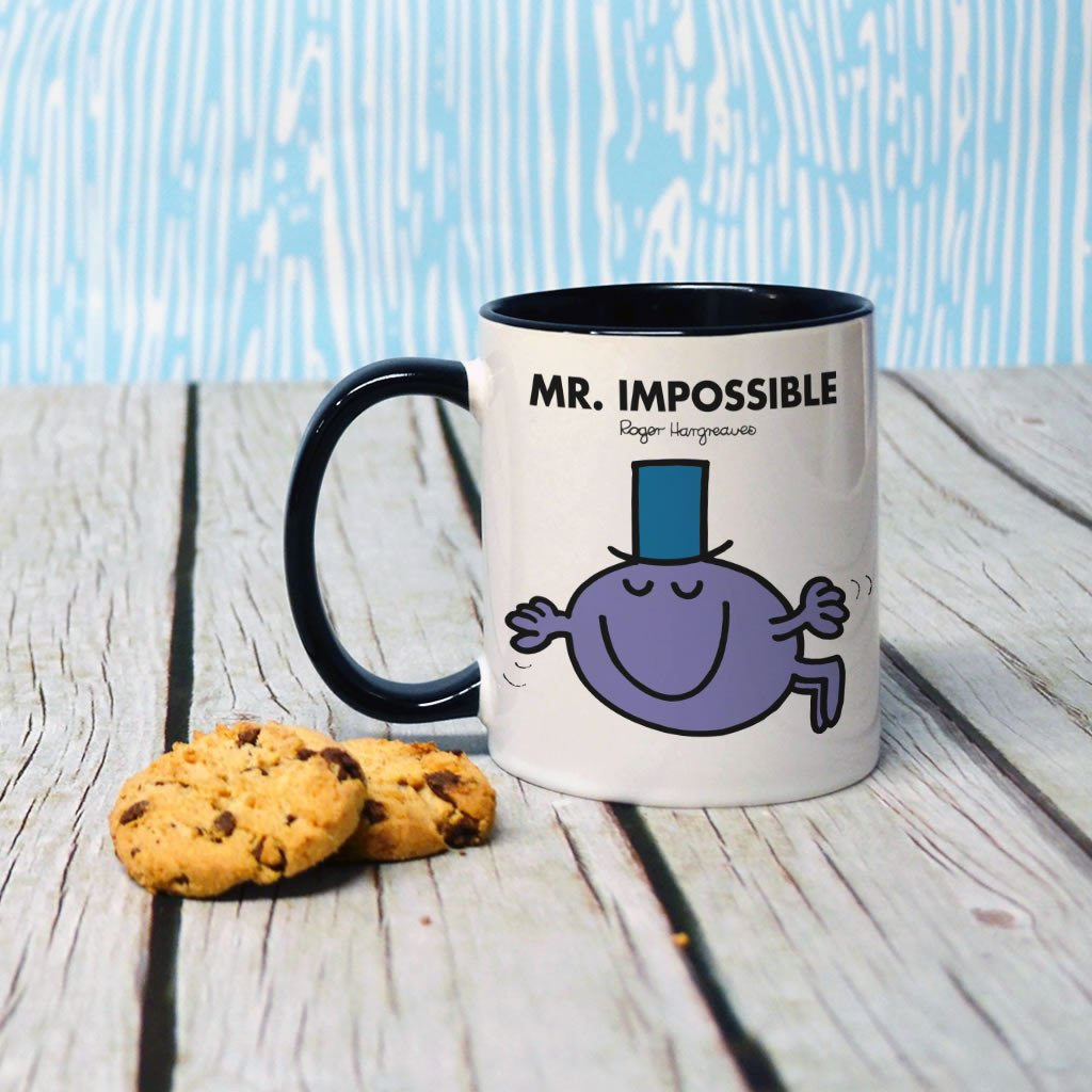 Mr. Impossible Large Porcelain Colour Handle Mug (Lifestyle)