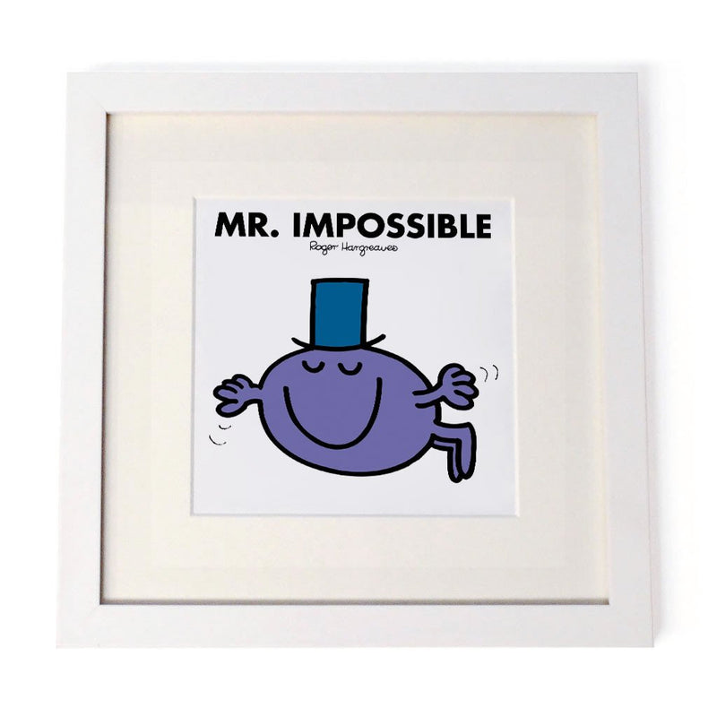 Mr. Impossible White Framed Print