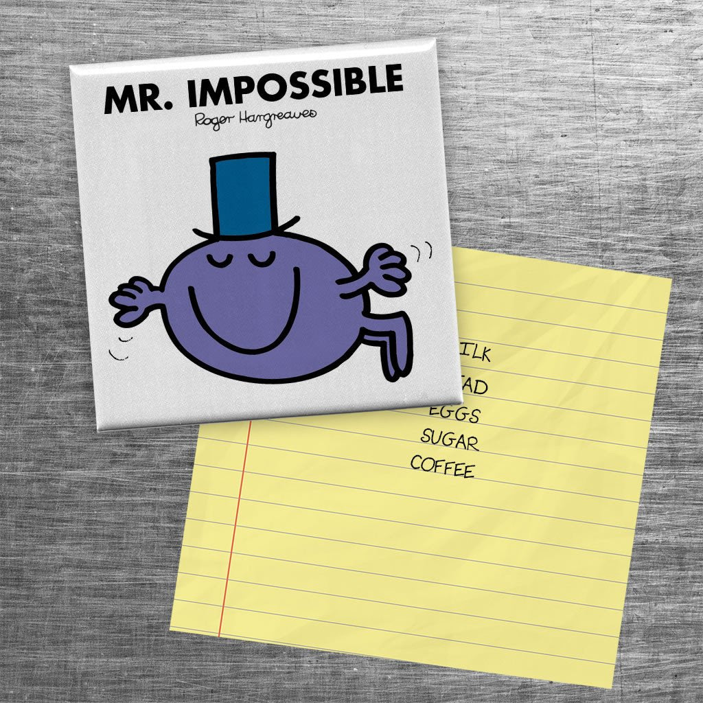 Mr. Impossible Square Magnet (Lifestyle)