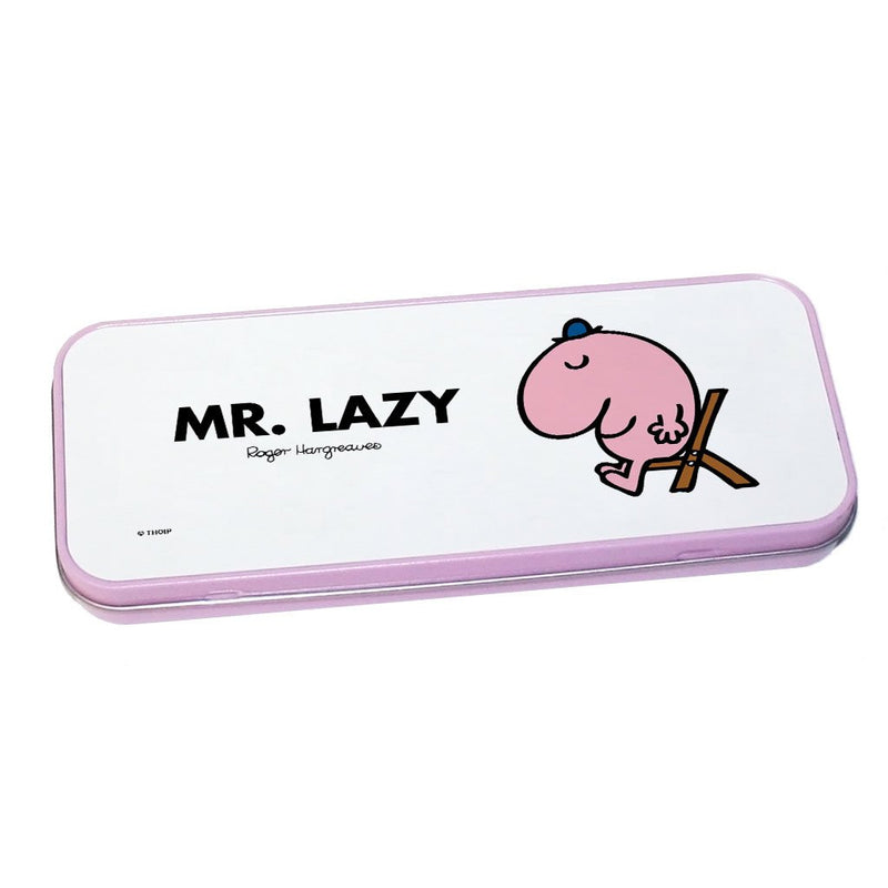 Mr. Lazy Pencil Case Tin (Pink)