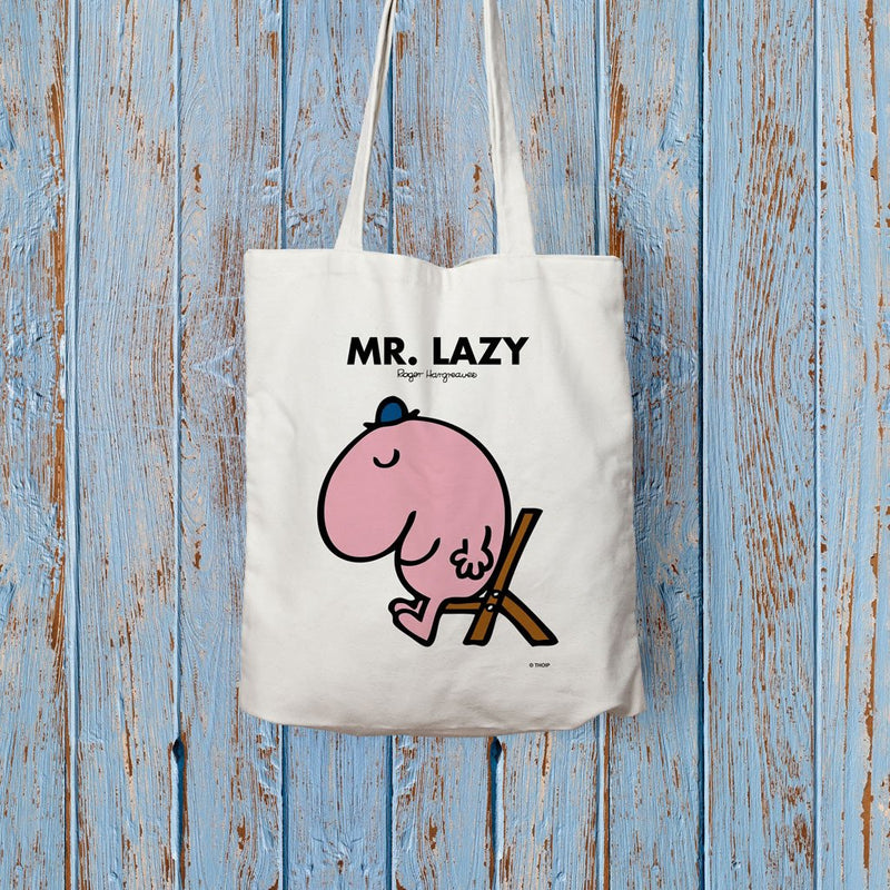 Mr. Lazy Long Handled Tote Bag (Lifestyle)