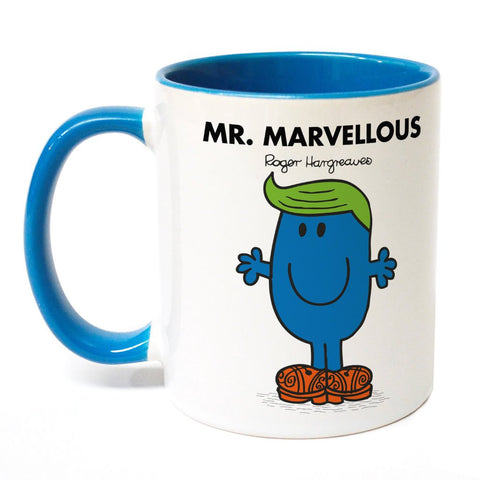 Mr. Marvellous Large Porcelain Colour Handle Mug