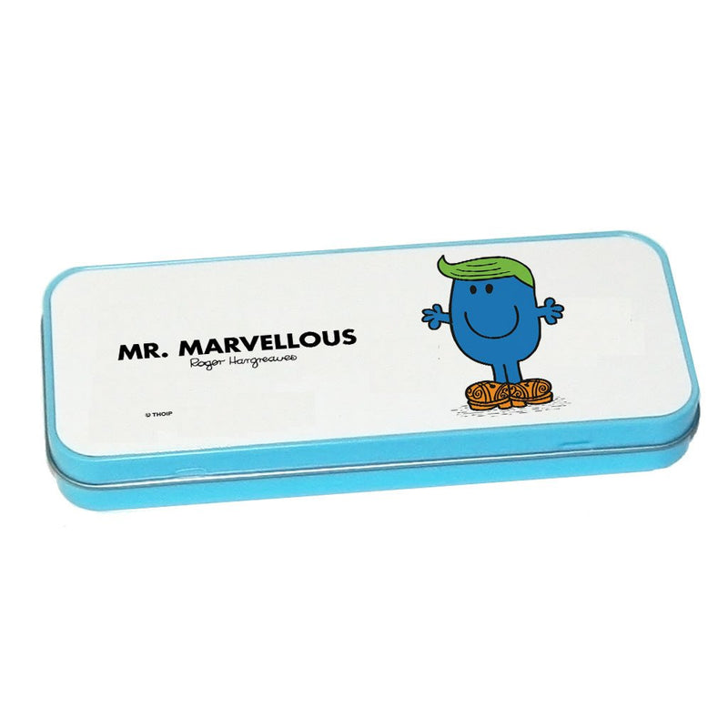 Mr. Marvellous Pencil Case Tin (Blue)
