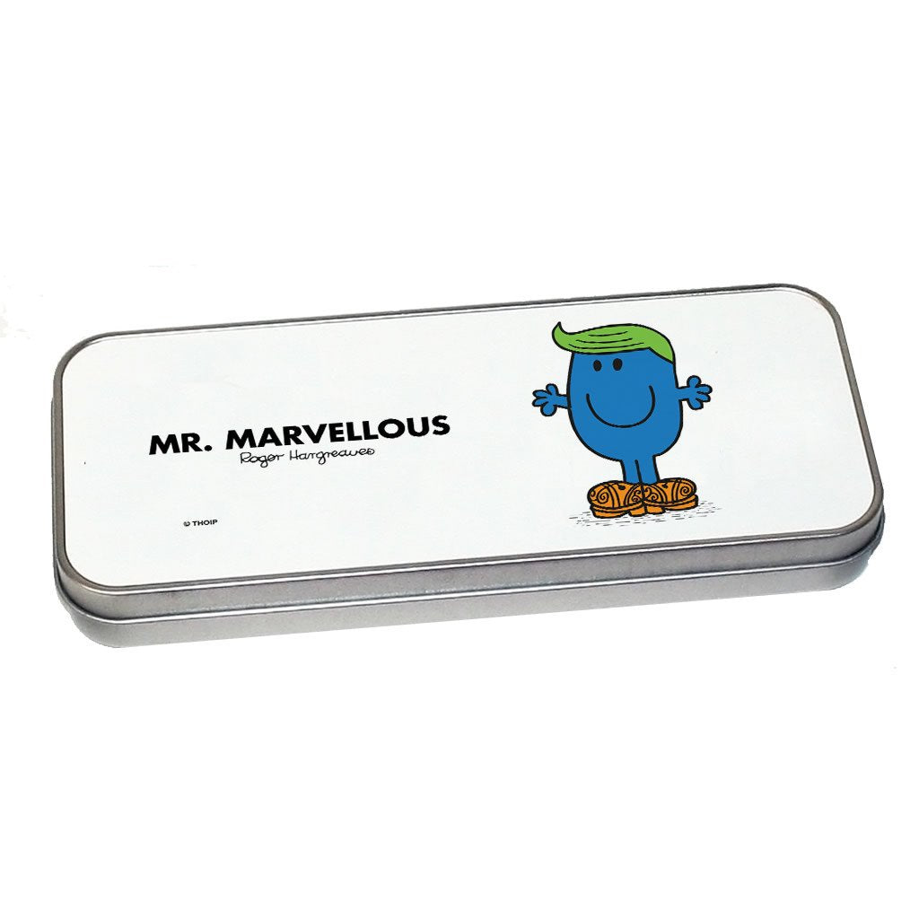 Mr. Marvellous Pencil Case Tin (Silver)
