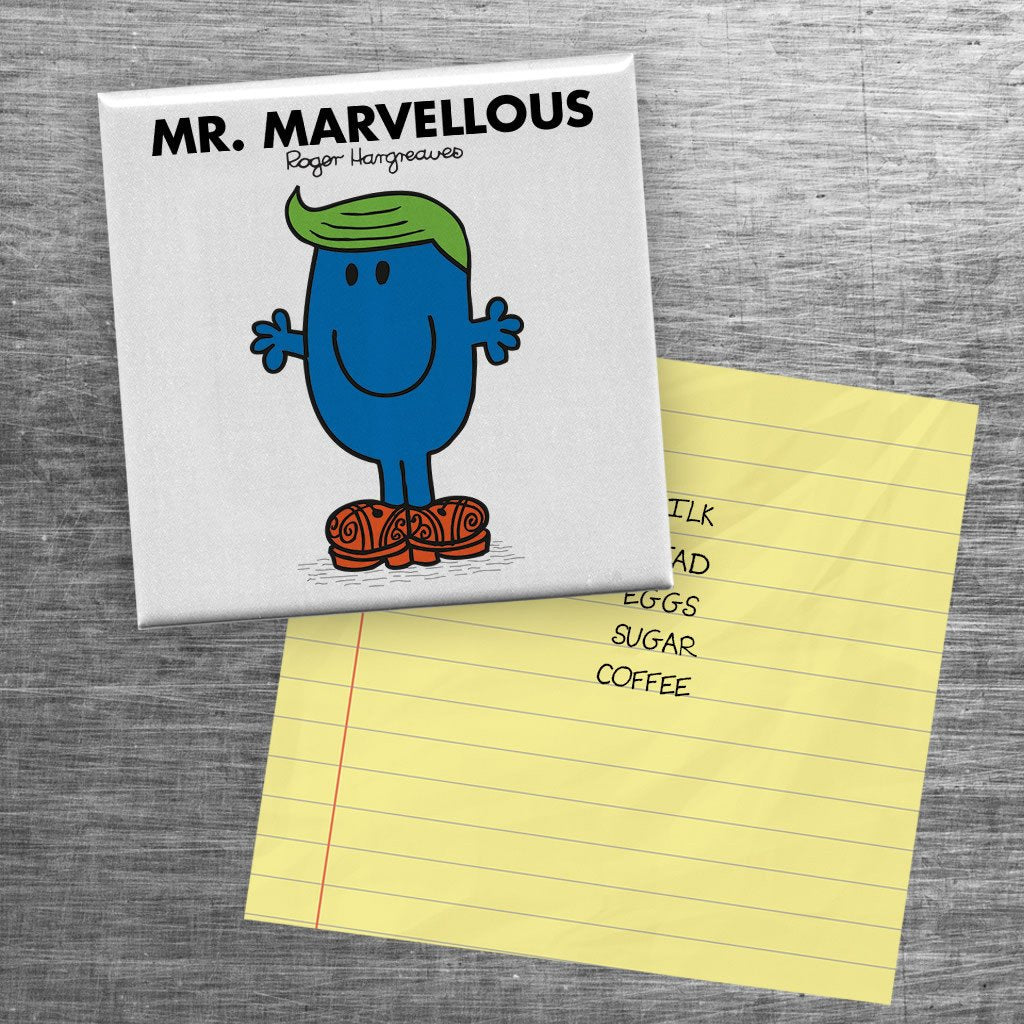 Mr. Marvellous Square Magnet (Lifestyle)