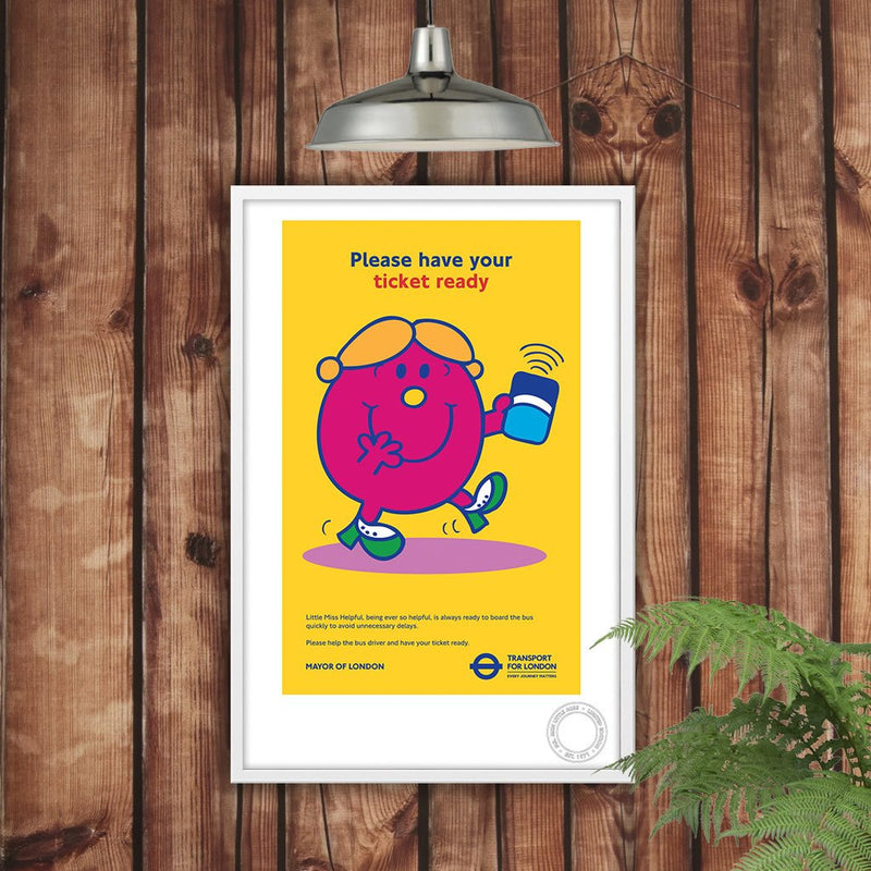 Little Miss Helpful TFL Limited Edition Print (Lifestyle)
