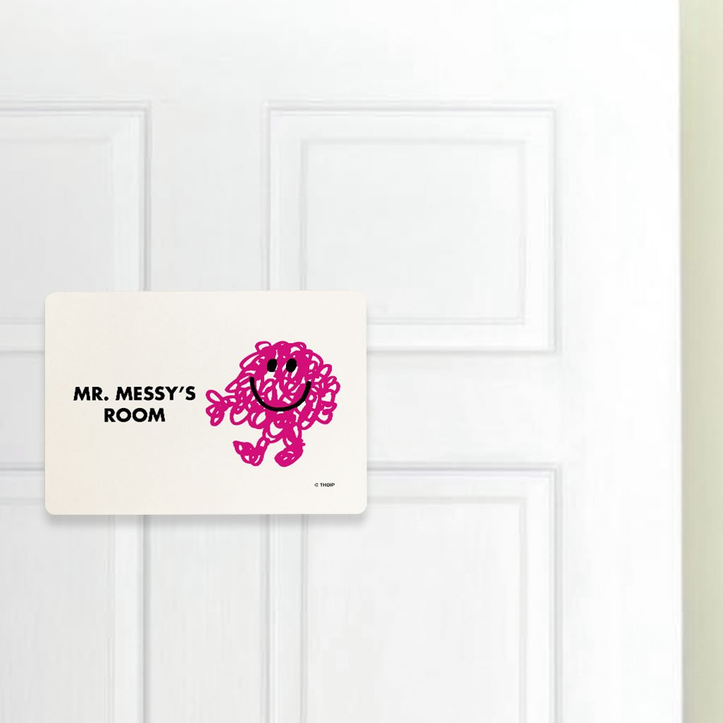 Mr. Messy Door Plaque (Lifestyle)