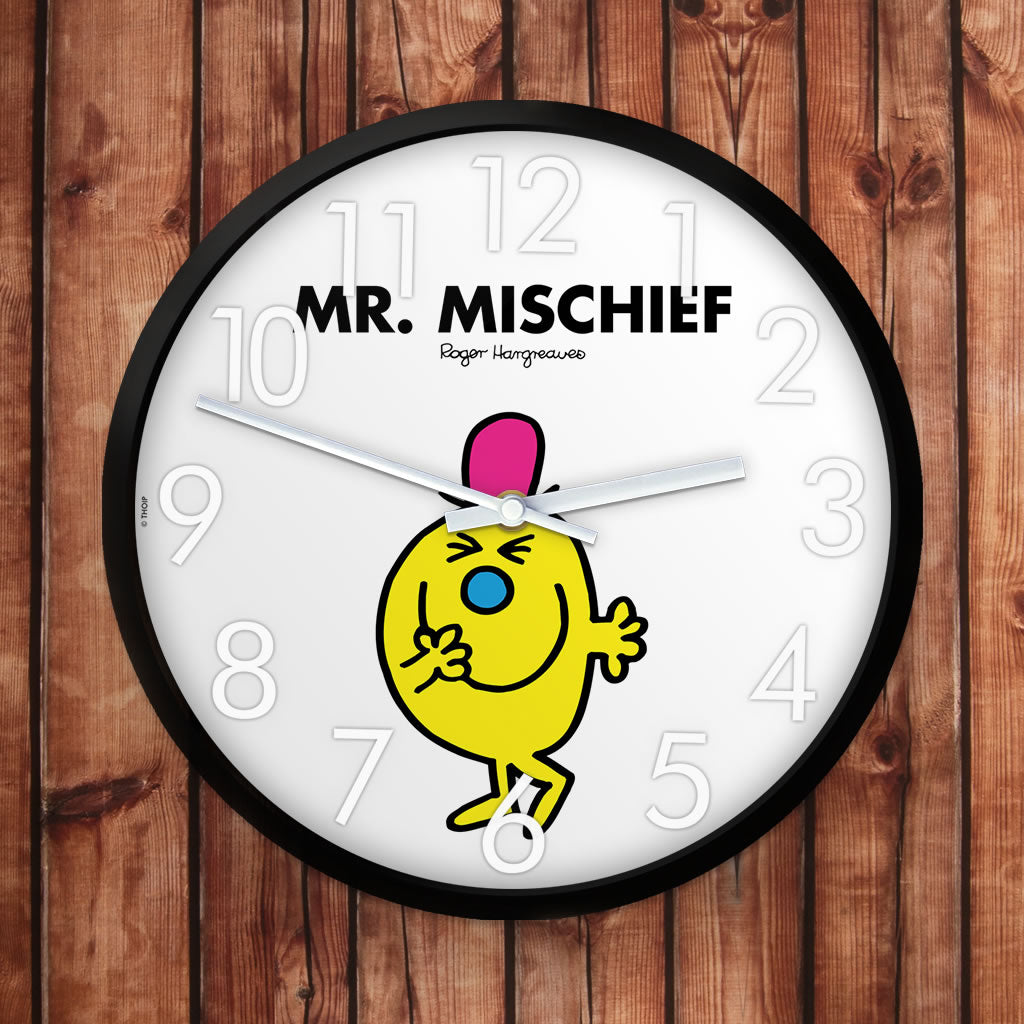 Mr. Mischief Personalised Clock (Lifestyle)