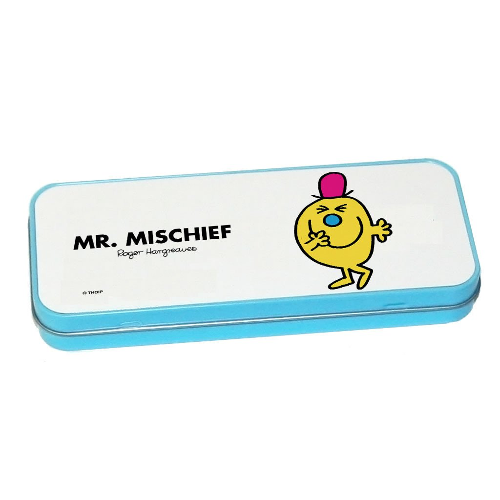Mr. Mischief Pencil Case Tin (Blue)