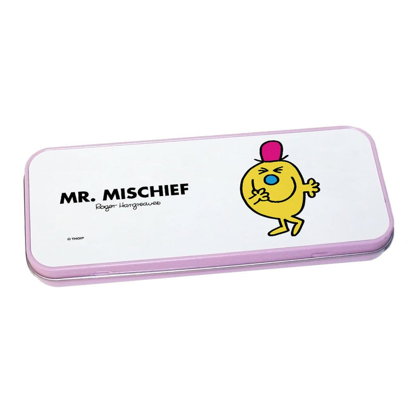 Mr. Mischief Pencil Case Tin (Pink)