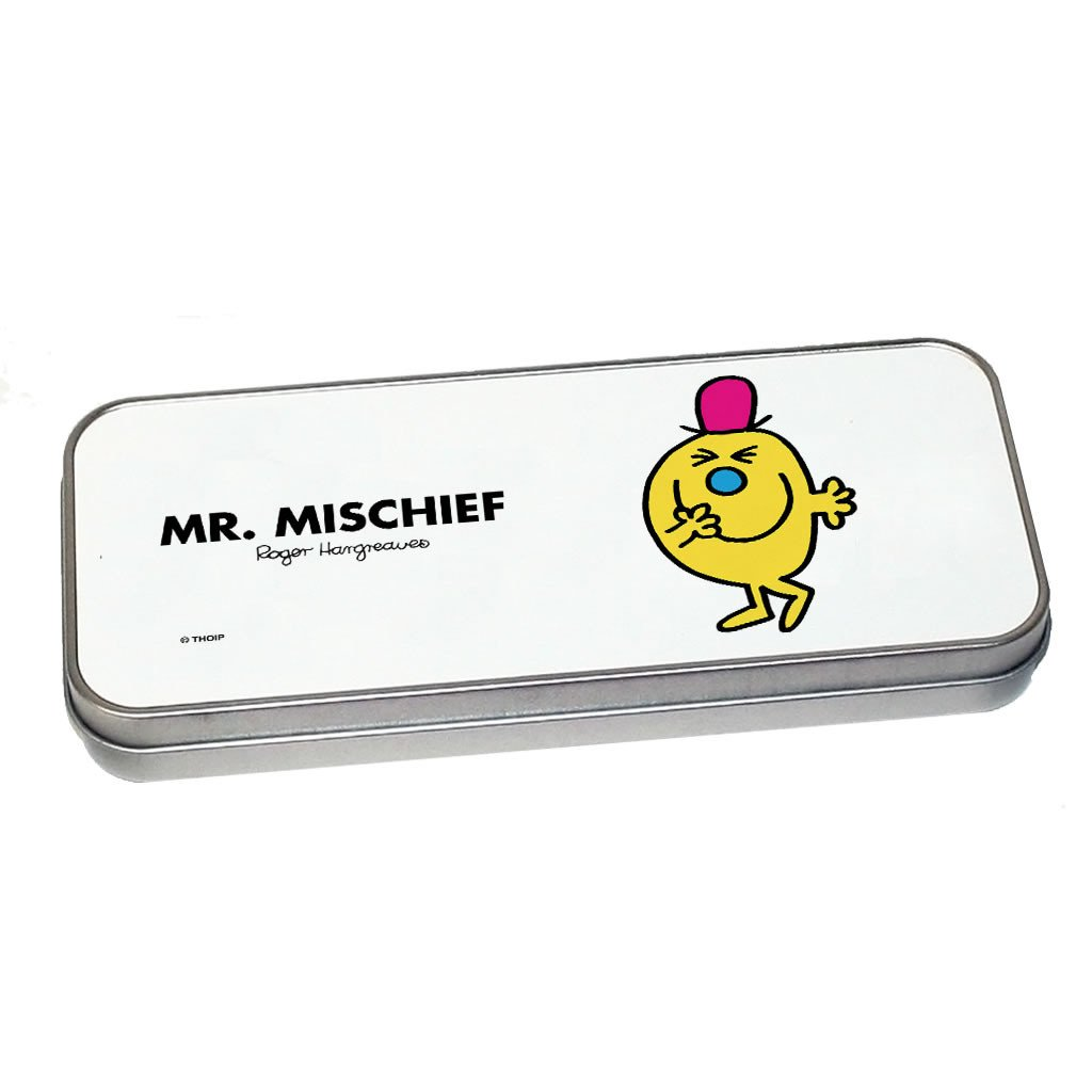 Mr. Mischief Pencil Case Tin (Silver)