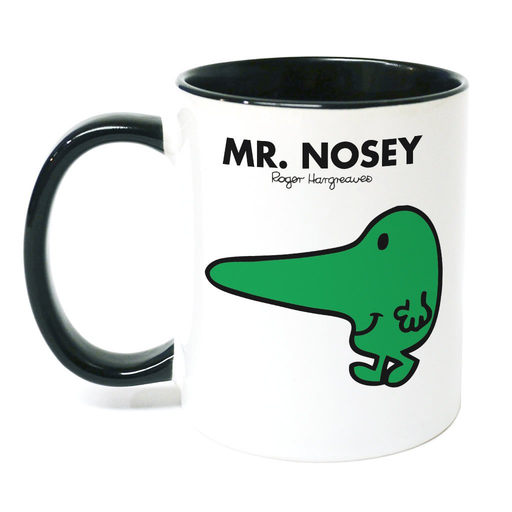 Mr. Nosey Large Porcelain Colour Handle Mug