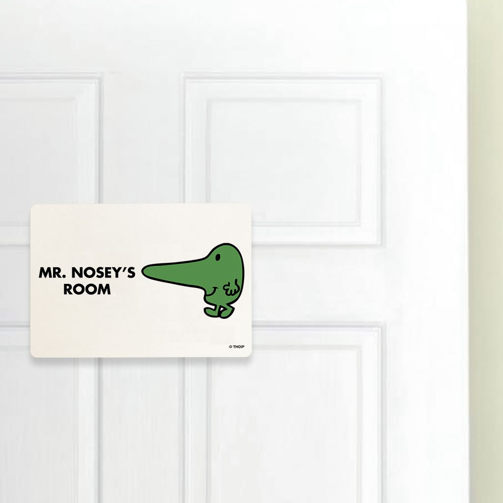 Mr. Nosey Door Plaque (Lifestyle)