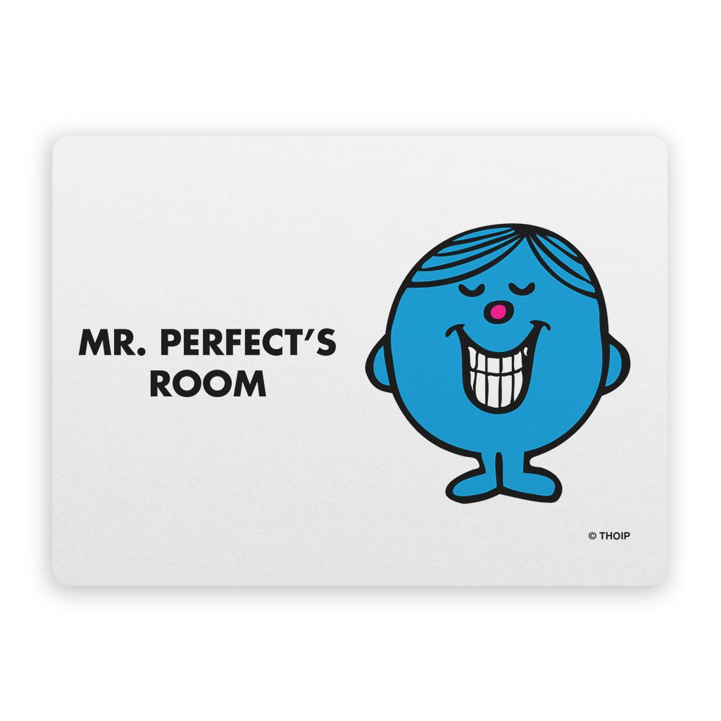 Mr. Perfect Door Plaque